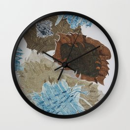 Carbonation Collection: ski Wall Clock