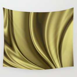 Abstract Fractal Colorways 02 Simple Gold Wall Tapestry