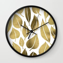 Cascading Leaves – Gold Palette Wall Clock