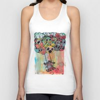 baloon Tank Tops featuring baloon by Hugo Lucas