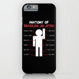 Anatomy Brazilian Jiu Jitsu Gifts for Jiu Jitsu BJJ Gifts iPhone Case