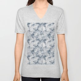 Abstract pattern.the effect of broken glass. Unisex V-Neck