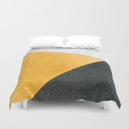 Modern Yellow & Black Geometric Duvet Cover