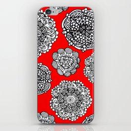 red mandala maze  iPhone Skin