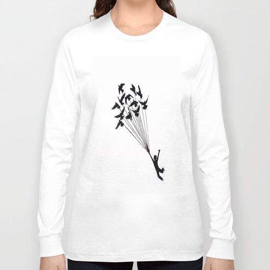 Children Fly Pigeon Long Sleeve T-shirt