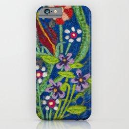 Cozy Felted Wool Flower Garden iPhone Case