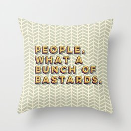 Bastards Throw Pillow