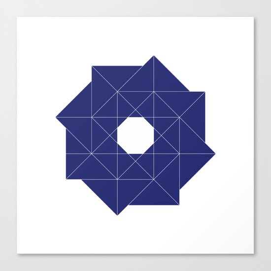 #387 Cyclone – Geometry Daily Canvas Print