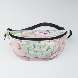 Perfect Pink Succulent Fanny Pack
