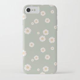 Mint Daisy Field iPhone Case