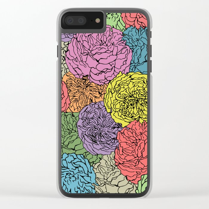 LONG LIVE THE SPRING! (abstract tropical flowers) Clear iPhone Case