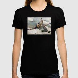 Spitfire vs He111 T-shirt