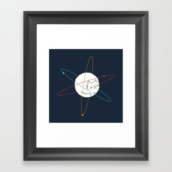 Cat-ion Framed Art Print