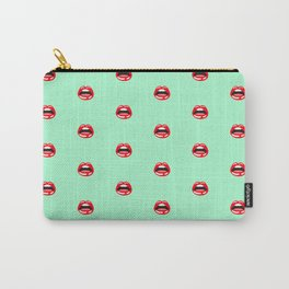SEXY LIPS ((seafoam green)) Carry-All Pouch