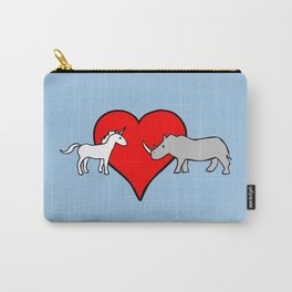 Unicorn Loves Rhino Carry-All Pouch