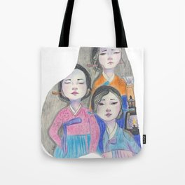 Those three women Tote Bag