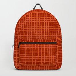 Rust Grid Backpack