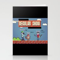 regular show Stationery Cards featuring Super Regular Show Bros. by Poetic_Hoopa