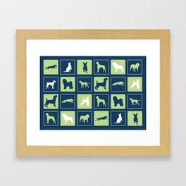 Dog Squared Framed Art Print