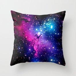 Eagle Nebula Unicorn Color Throw Pillow