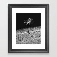 portrait of a seed Framed Art Print