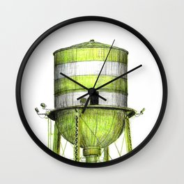 Montreal's Water Tower (Lachine Canal) Wall Clock