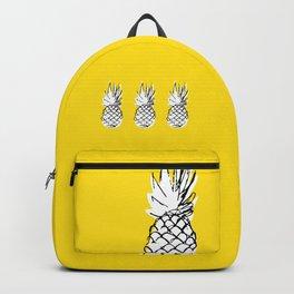 Ananananananananas on a yellow background Backpack