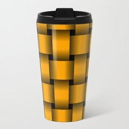 Large Orange Weave Travel Mug