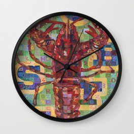 Lobster No. 2 (Nephropidae) Wall Clock