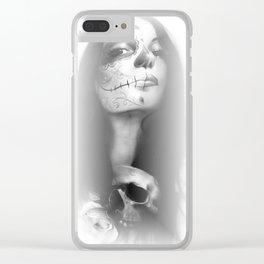 'Dia De Los Muertos Rachel' Clear iPhone Case