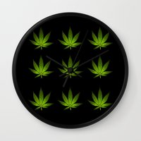 weed Wall Clocks featuring Weed by Spyck