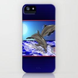 Darrell Merrill Nerd Artist Dolphin's iPhone Case