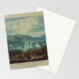 West Point, from Philipstown by W.J. Bennet (1831) Stationery Cards