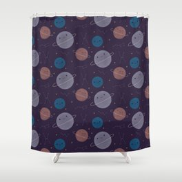 Kawaii Outer Space Shower Curtain