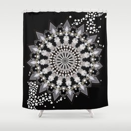 Wheel of Blossoms Shower Curtain