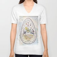 egg V-neck T-shirts featuring Egg by Infra_milk
