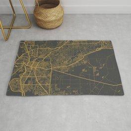 Sacramento Map ocher Rug