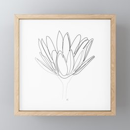 """Botanical Collection"" - Lily Flower Framed Mini Art Print"
