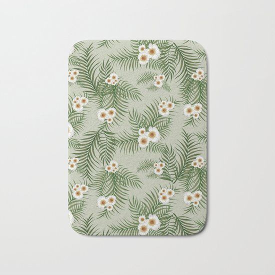 Vintage Jungle Pattern #society6 #decor #buyart Bath Mat