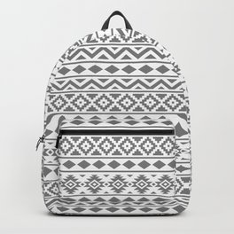 Aztec Essence Ptn III Grey on White Backpack