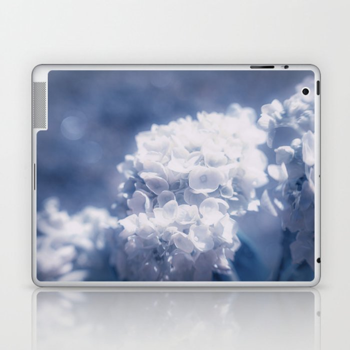 Grace and Beauty Defined a blue Hydrangea flower Laptop & iPad Skin