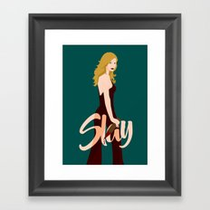 Slay Buffy! Framed Art Print