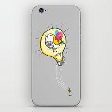 Riding a Bird in a Buld iPhone & iPod Skin