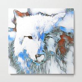 Animal ArtStudio The Wolf Metal Print