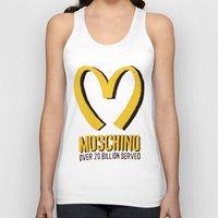 moschino Tank Tops featuring MOSCHINO  by Claudio Velázquez