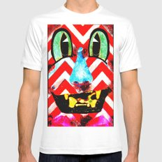 Boxface #2 Mens Fitted Tee MEDIUM White