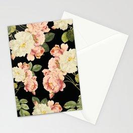Flora temptation - night Stationery Cards