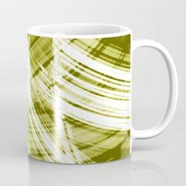 Reflective fibers of metallic yellow stripes with bright glow elements.  Coffee Mug