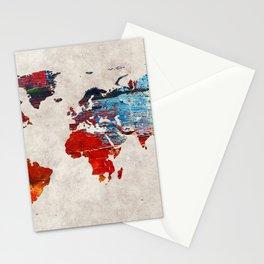 World Map 60 Stationery Cards