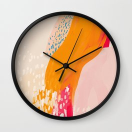 The Abstract Shape Of Spring Wall Clock